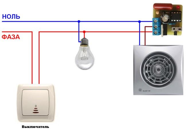 Как совместить подключение вентилятора в ванной и туалете к выключателю? (видео)