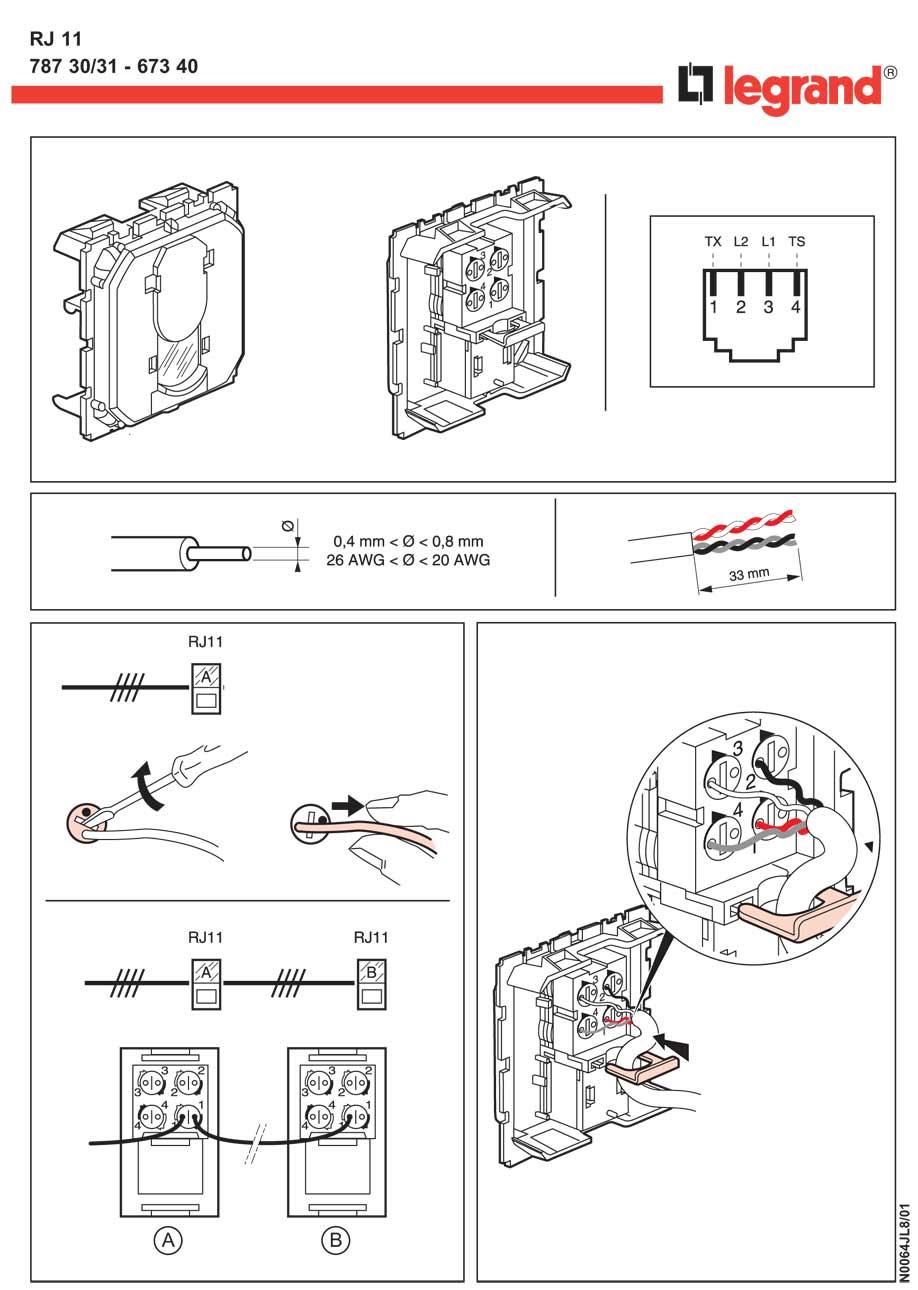 Как подключить телефонную розетку к двухжильному проводу - moy-instrument.ru - обзор инструмента и техники