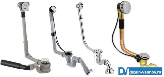 Установка слива в ванной – защита от неприятных ароматов и перелива воды