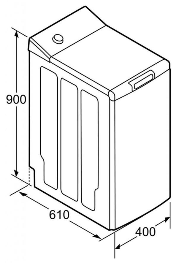 Размеры стиральных машин с вертикальной загрузкой: минимальные габариты - ширина, высота и глубина машин с верхней загрузкой