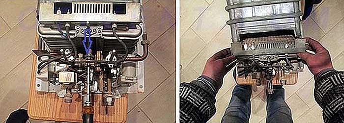 Как почистить газовую колонку от накипи – промывка теплообменника