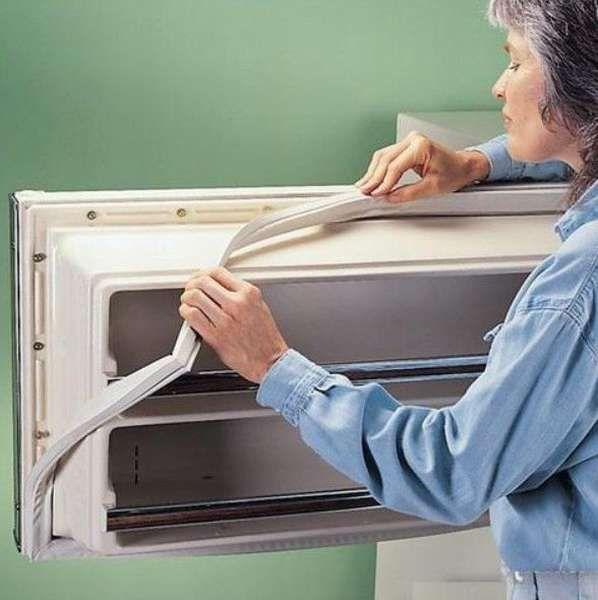 Ремонт уплотнителя двери холодильника своими руками - как поменять резинку и отрегулировать дверцу