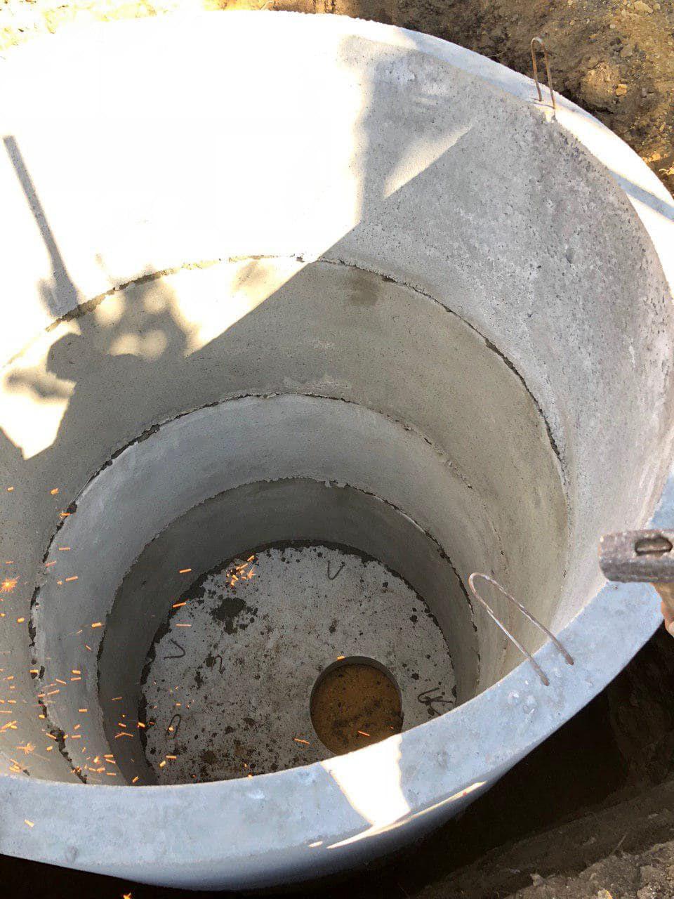 Выгребная яма из бетонных колец своими руками:схема,устройство,монтаж