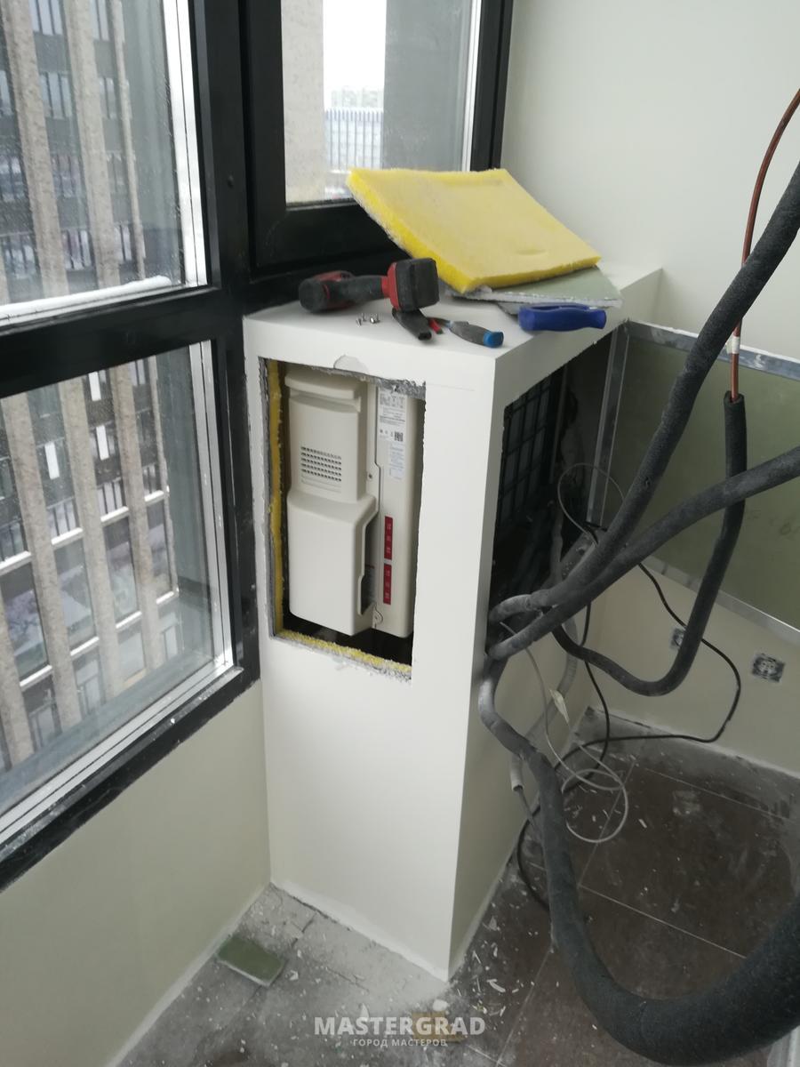 Установка кондиционера на лоджии и балконе: правила, выбор места, монтаж