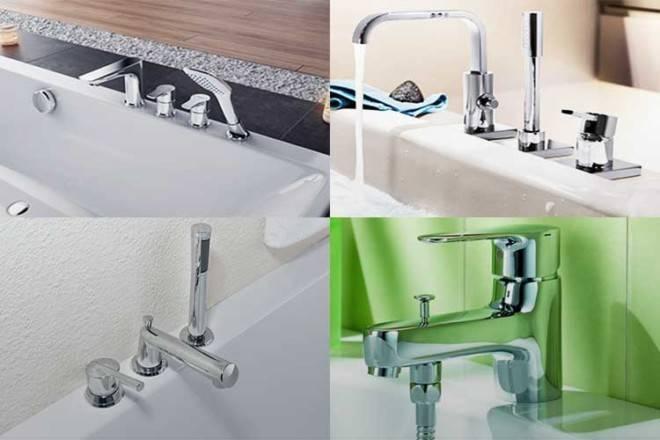 Cмеситель на борт ванны: конструкция, монтаж своими руками   ремонт и дизайн ванной комнаты