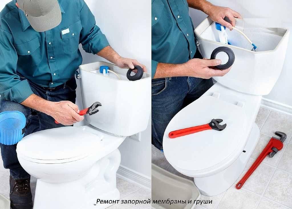 Течёт унитаз после смыва - все о канализации