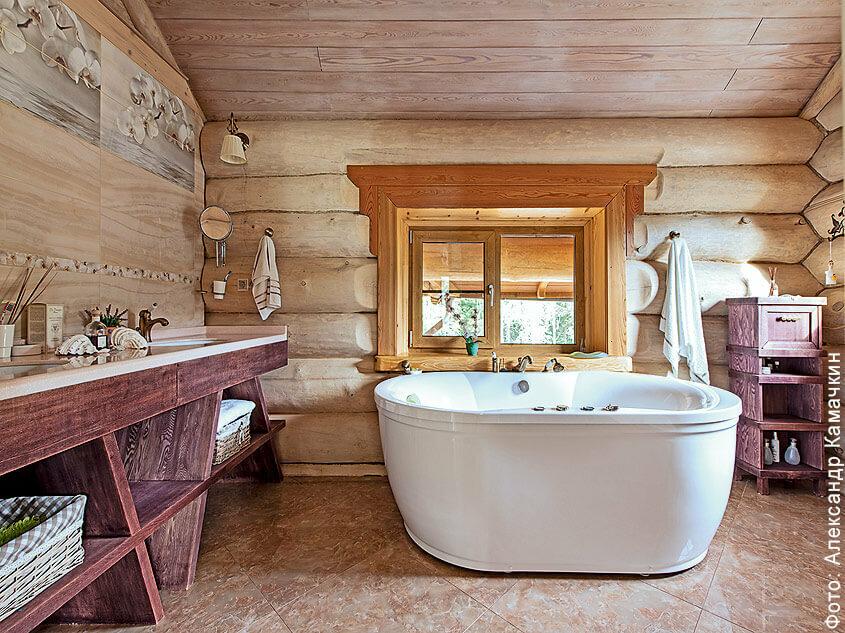 Ванная комната в деревянном доме: как ее грамотно обустроить   ремонт и дизайн ванной комнаты