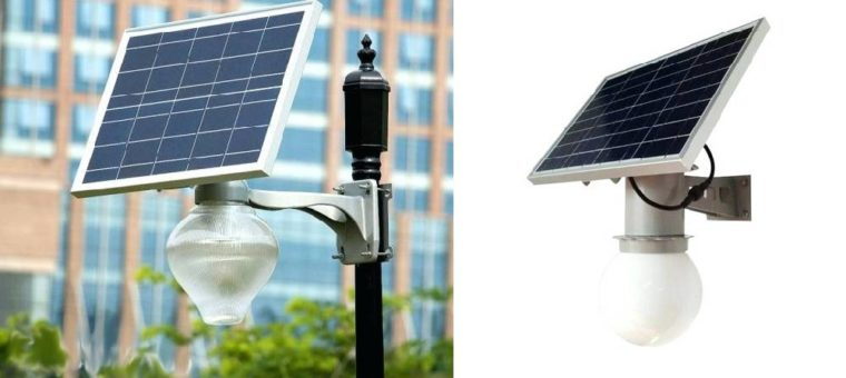 Уличные светильники на солнечных батареях — виды, обзор и сравнение производителей