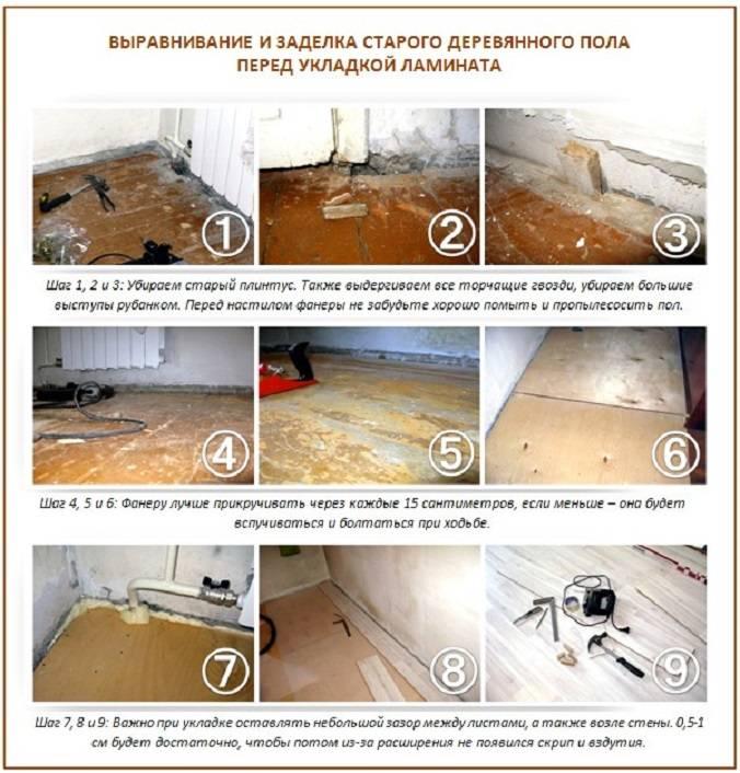Выравнивание деревянного пола фанерой своими руками - пошаговая инструкция!