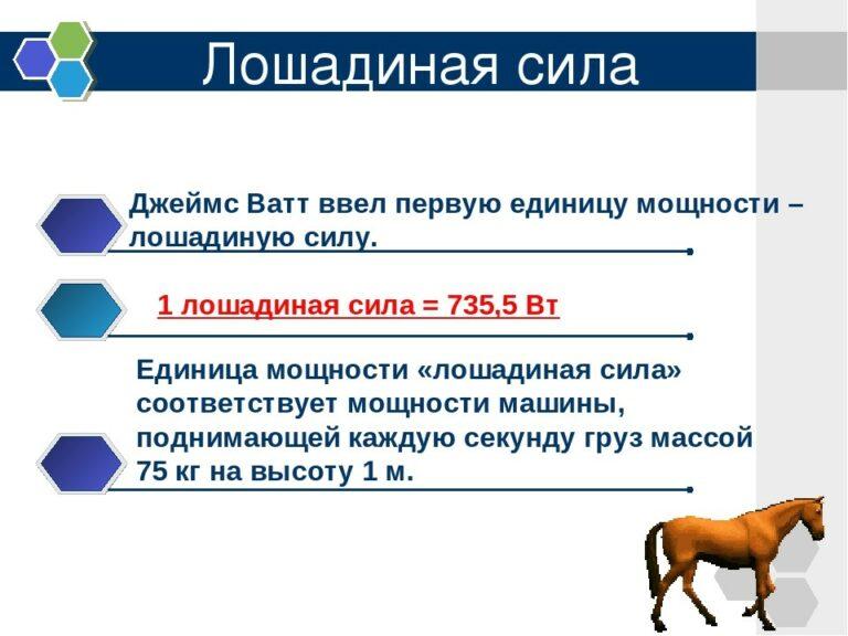 Калькулятор перевода киловатт в лошадиные силы