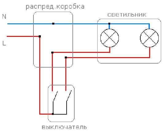 Как подключить двойной выключатель на две лампочки: схемы и инструкции