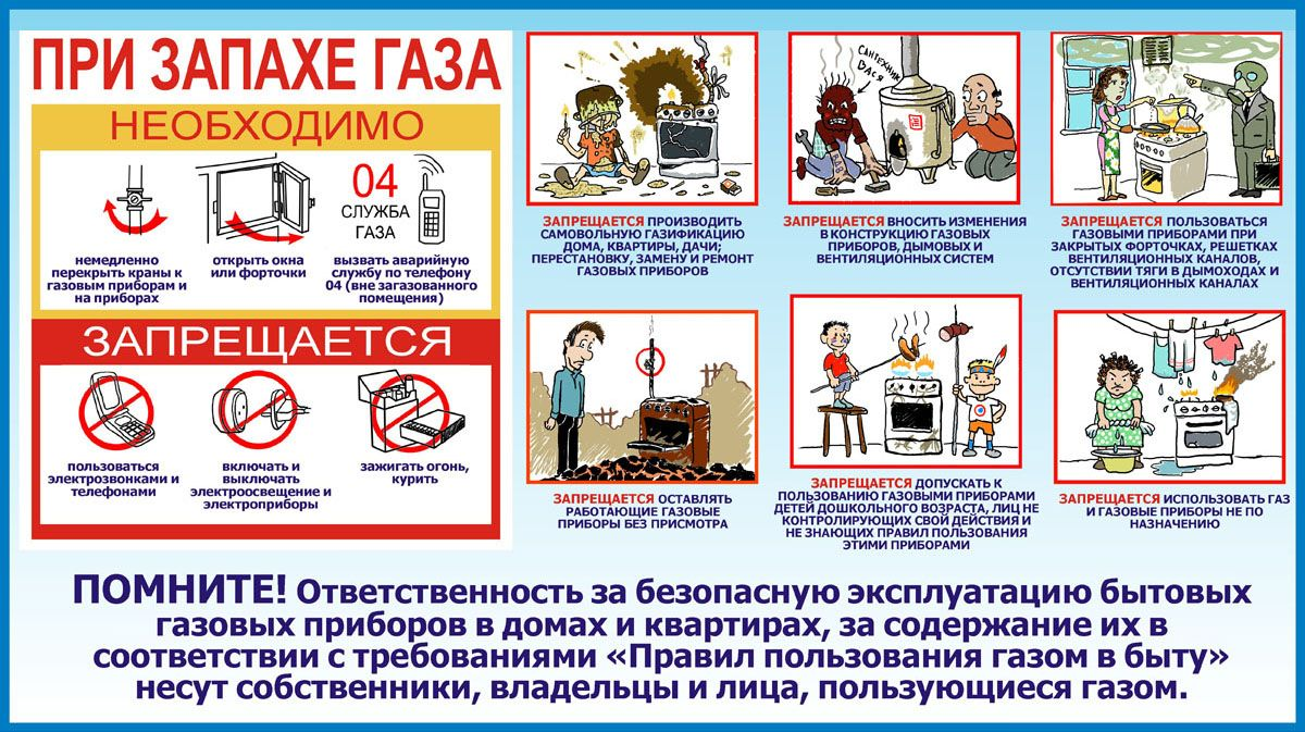 Правила эксплуатации газового оборудования в жилом доме