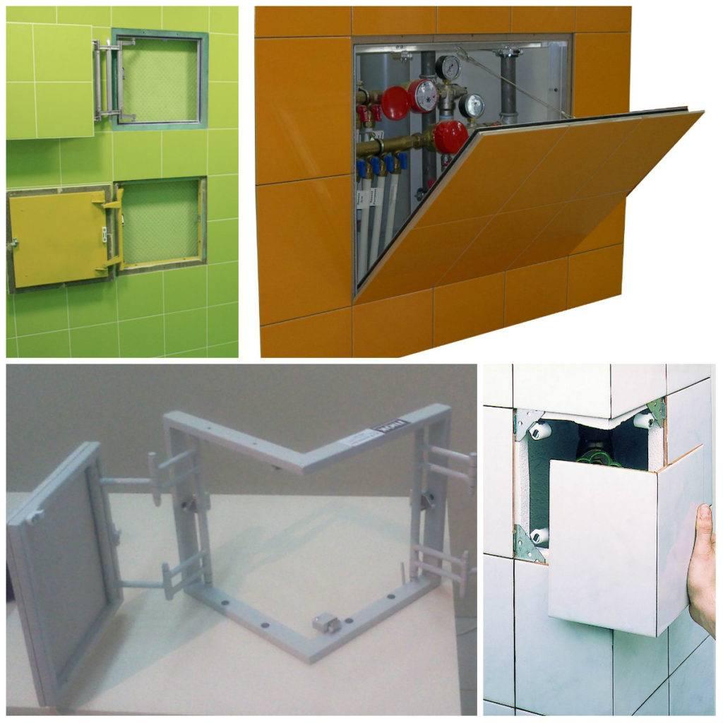 Люки для ванной комнаты под плитку: виды, размеры, выбор