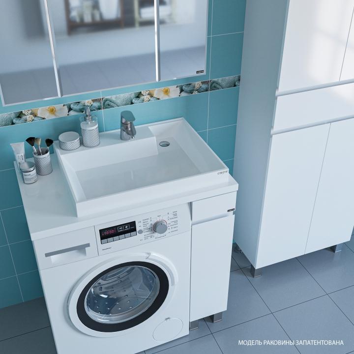 Размеры и установка раковины над стиральной машиной