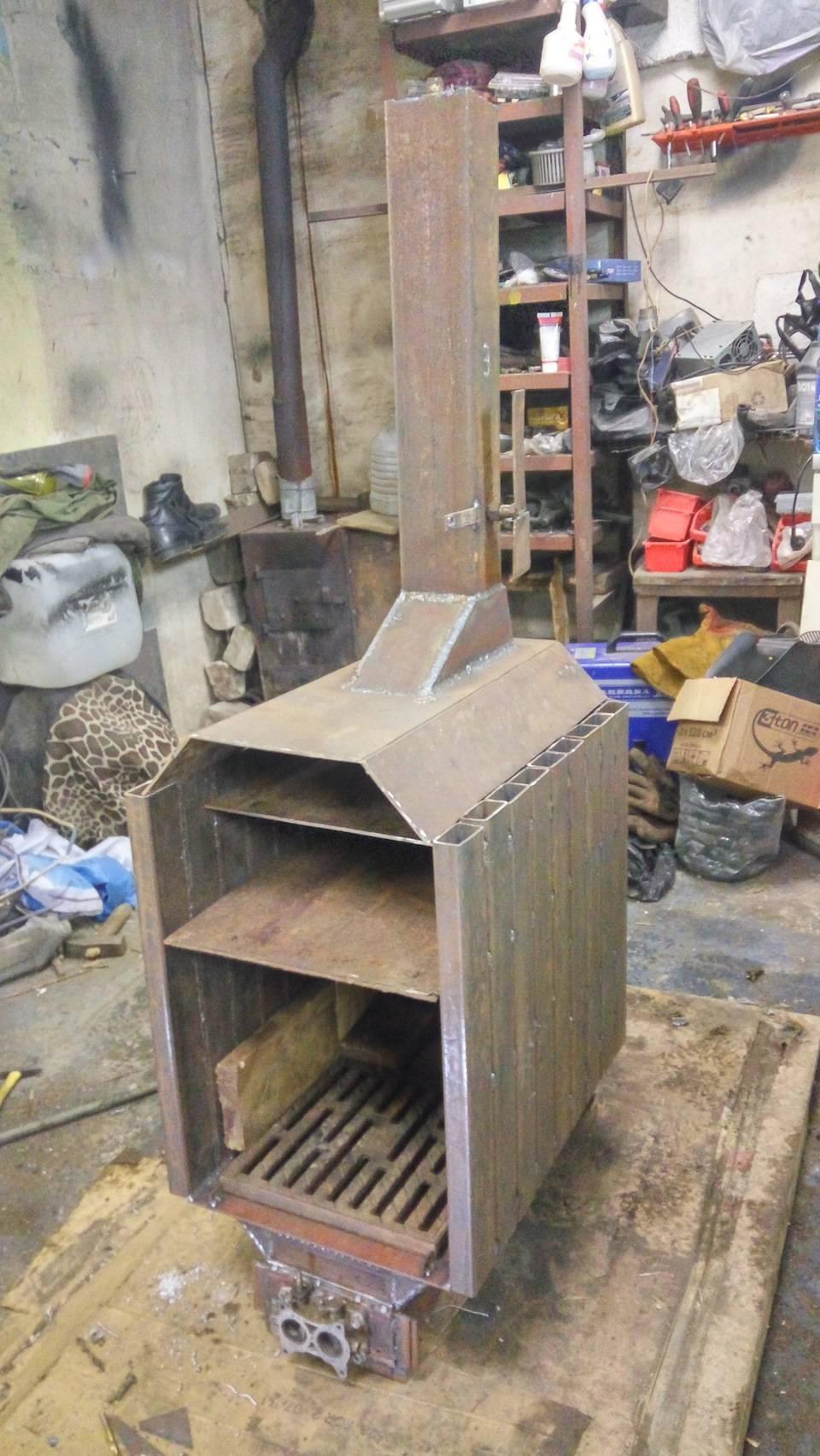 Изготовление самодельной буржуйки для гаража своими руками