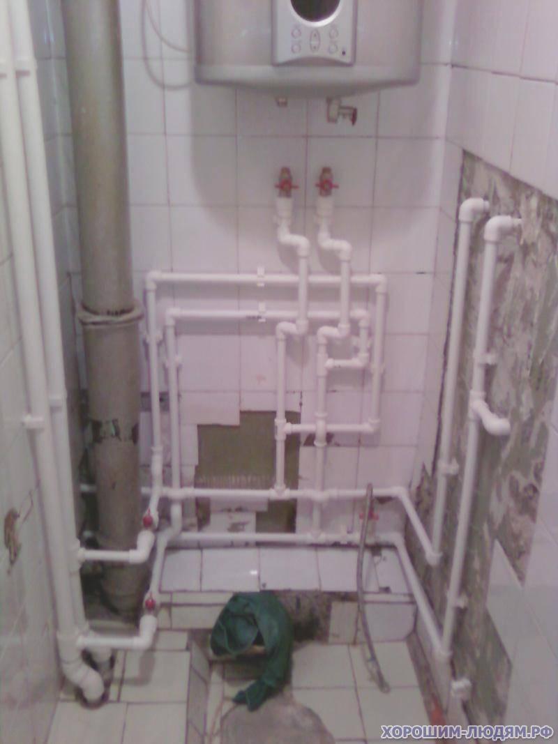 Замена труб в ванной комнате и туалете