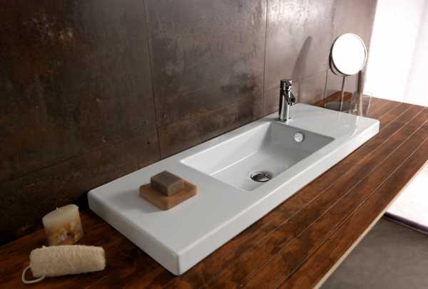 Как установить раковину на столешницу в ванной: какие бывают накладные раковины