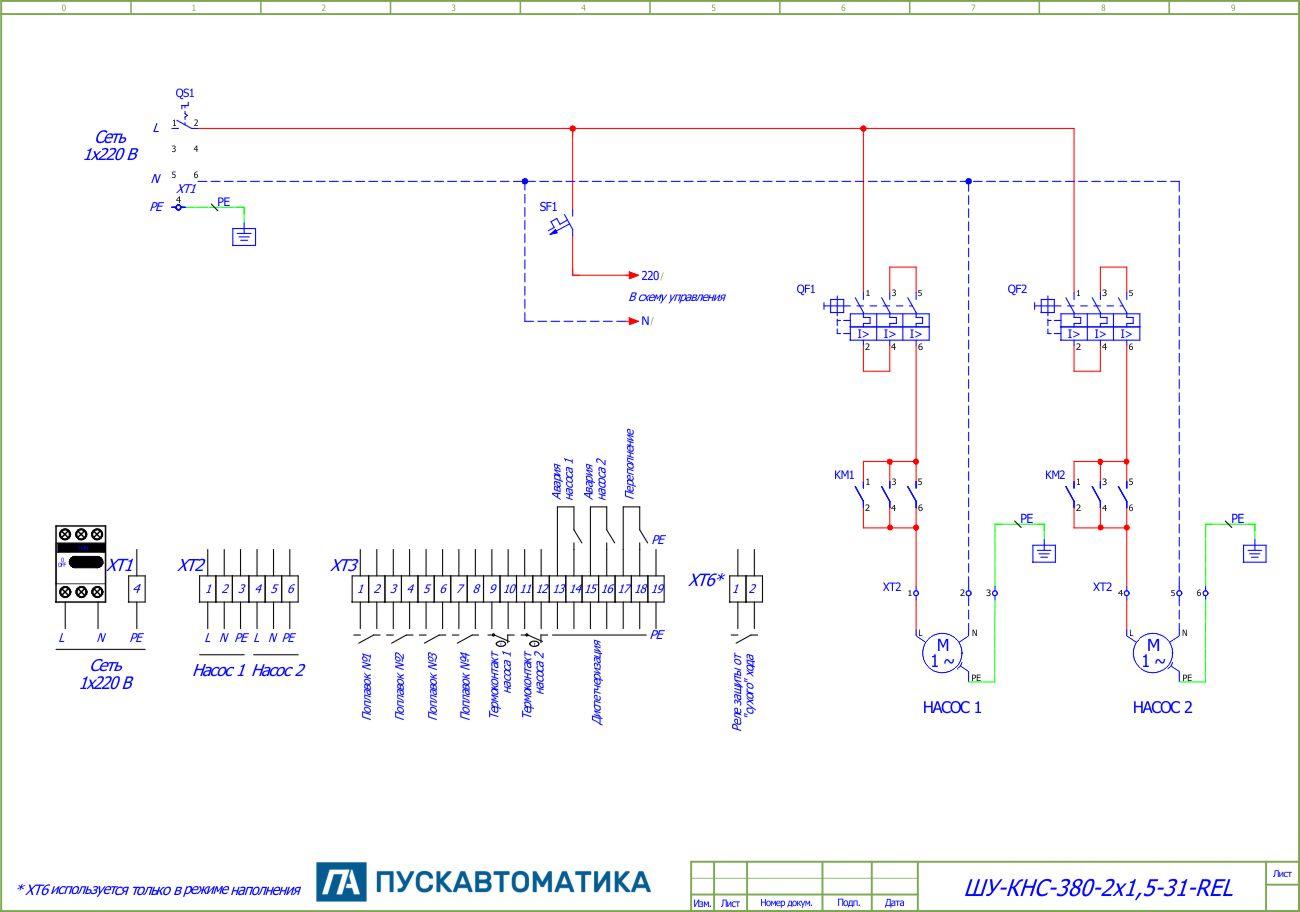 Как производиться управление насосом, критерии выбора автоматики и щитов
