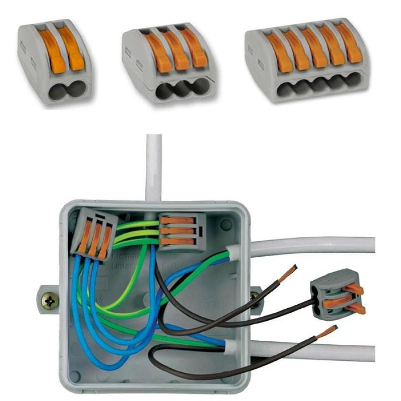 Клеммные зажимы wago для соединения проводов