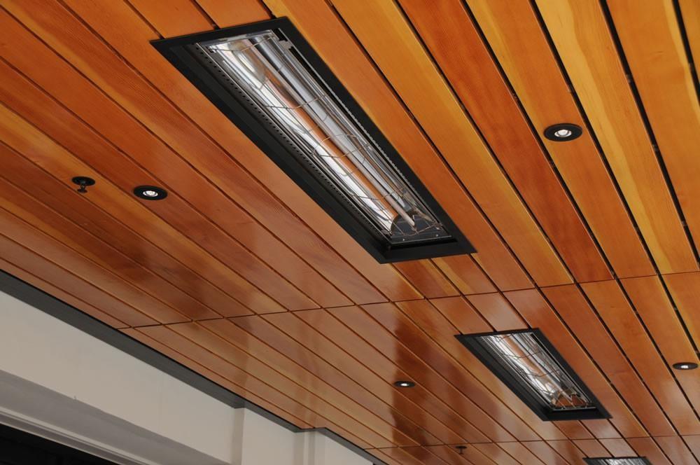 Установка инфракрасного обогревателя на потолок - лучшее отопление