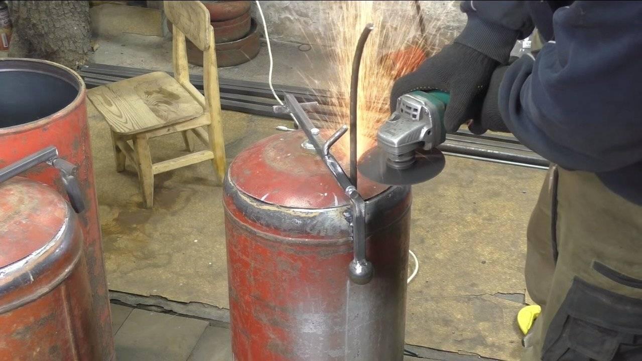 Буржуйка из газового баллона своими руками: чертежи и инструкция