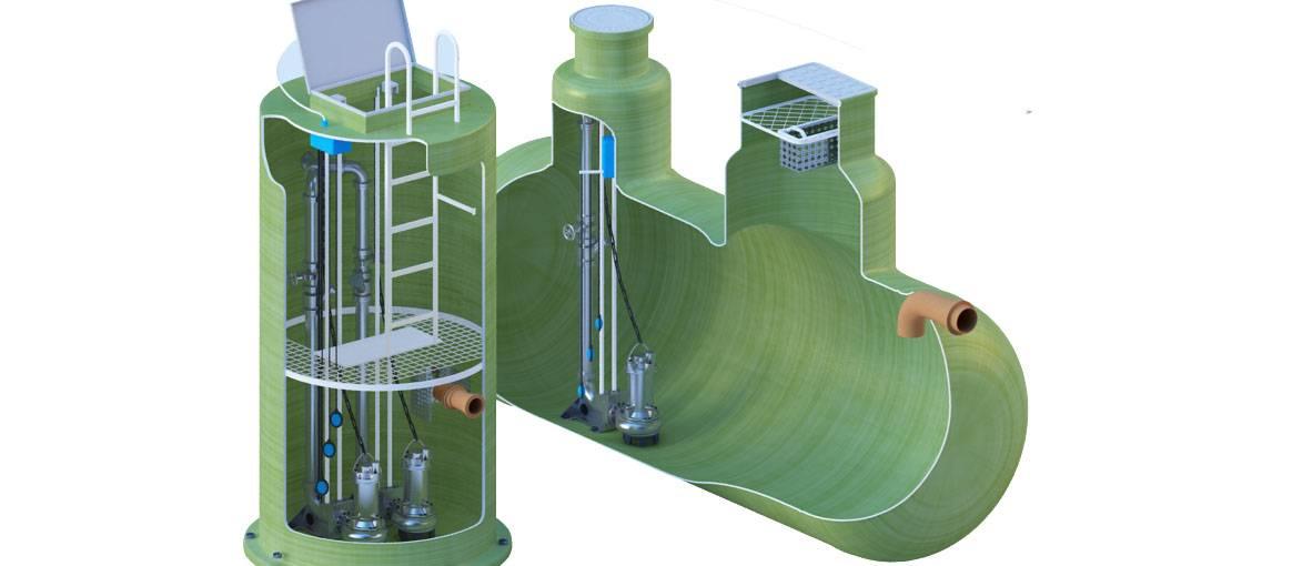 Канализационная насосная станция кнс - принцип работы и виды установки