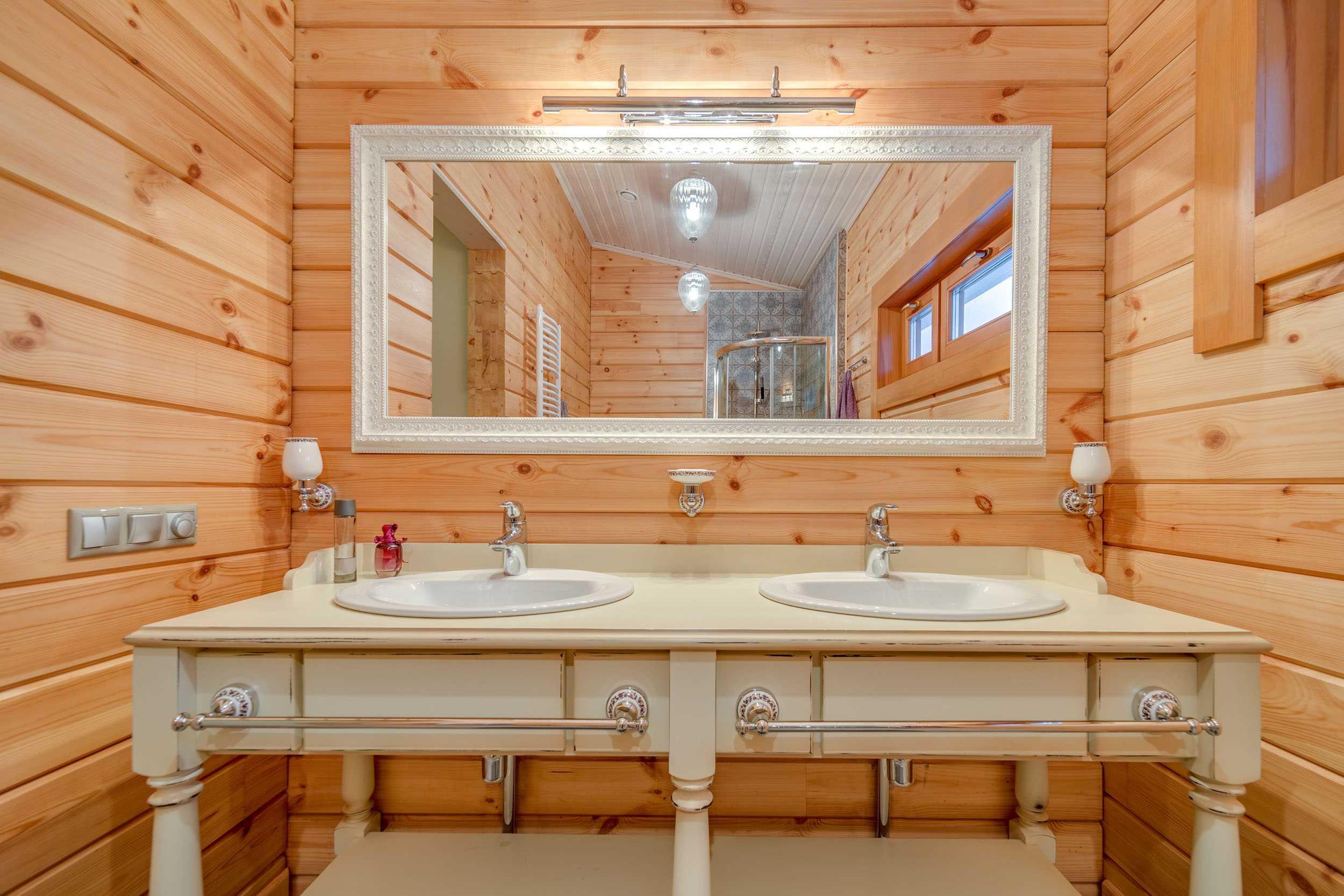 Ванная комната в деревянном доме – строим и защищаем от влаги самостоятельно!