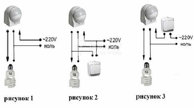 Как подключить датчик движения к светодиодному прожектору: схемы подключения для освещения
