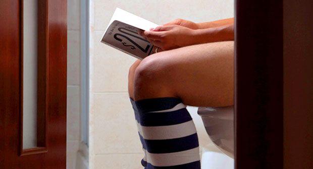 Насколько вредно читать, сидя на унитазе? — в мире — культура врн