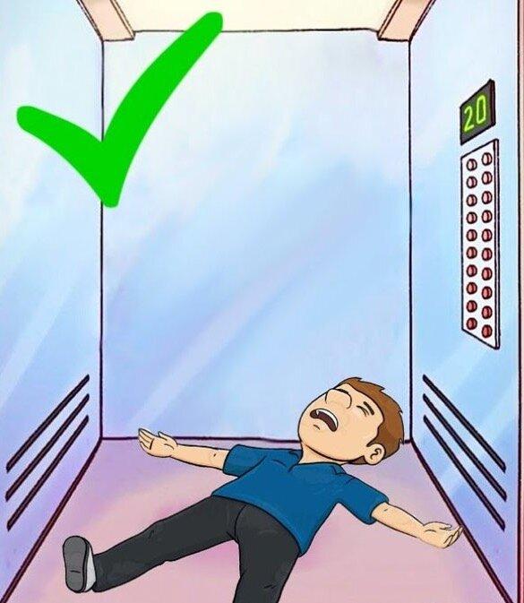 Можно ли выжить в падающем лифте и как это правильно сделать