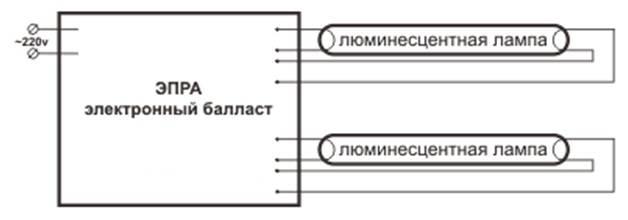 Схема подключения люминесцентных ламп: с дросселем, стартером, без них