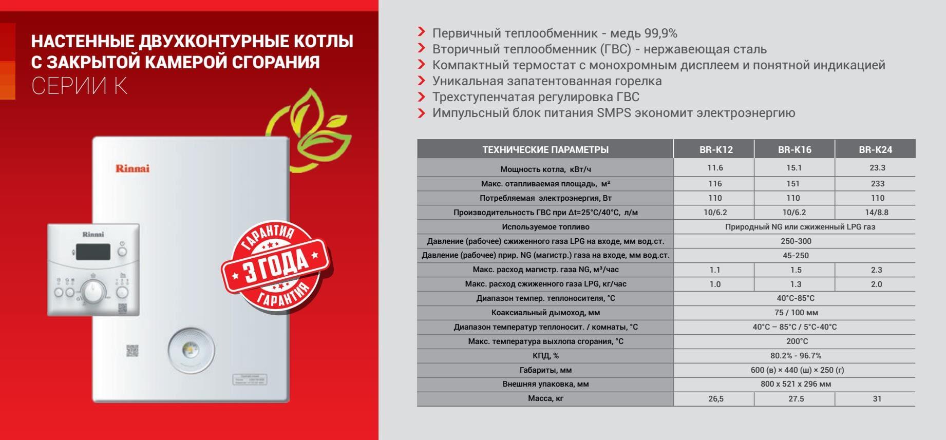 Настенный газовый котел rinnai серии rb для отопления и горячего водоснабжения с принудительным отводом продуктов сгорания (стр. 3 ) | контент-платформа pandia.ru