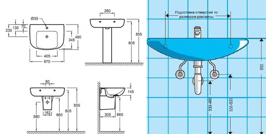 Стандартная высота установки смесителя крана над ванной от пола