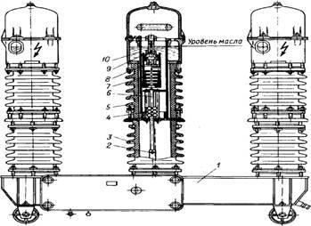 Масляный выключатель. типы масляных выключателей