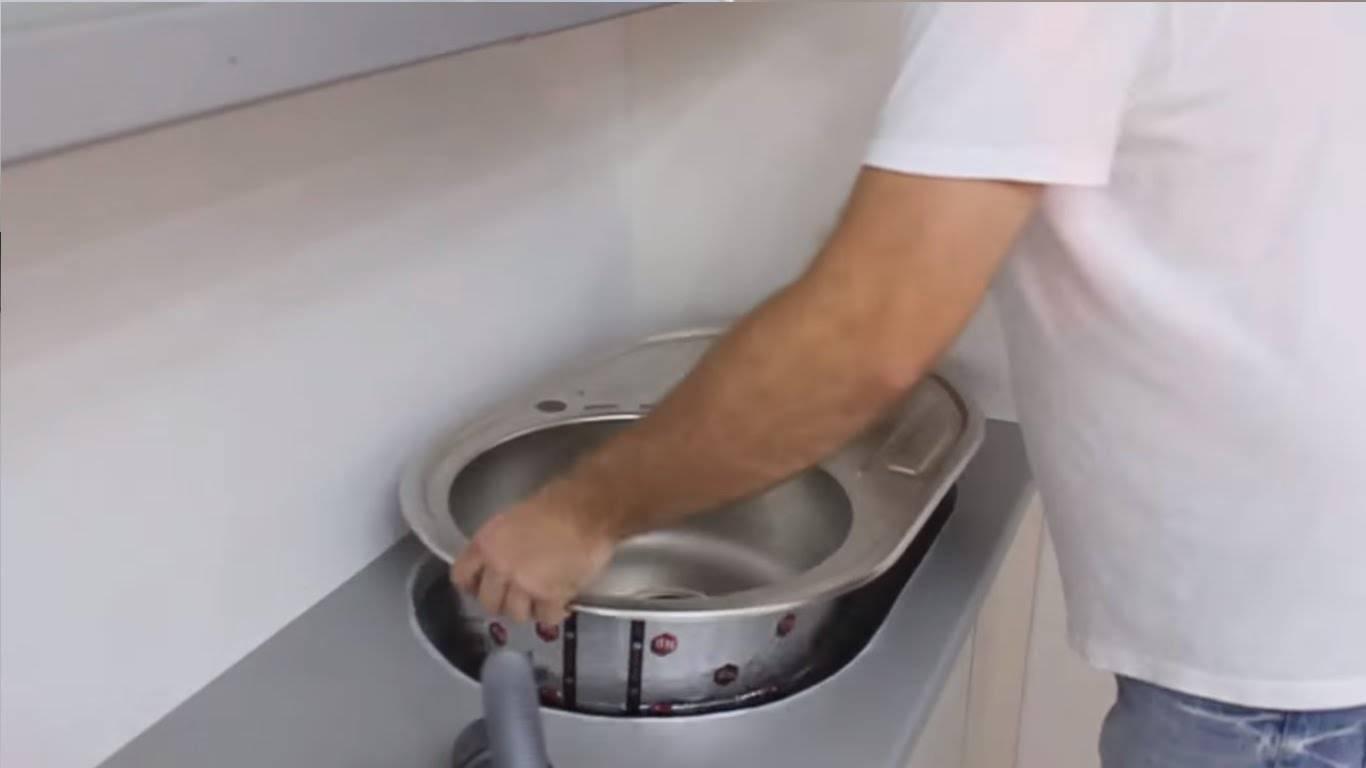Установка накладной мойки: основные этапы монтажа мойки своими руками