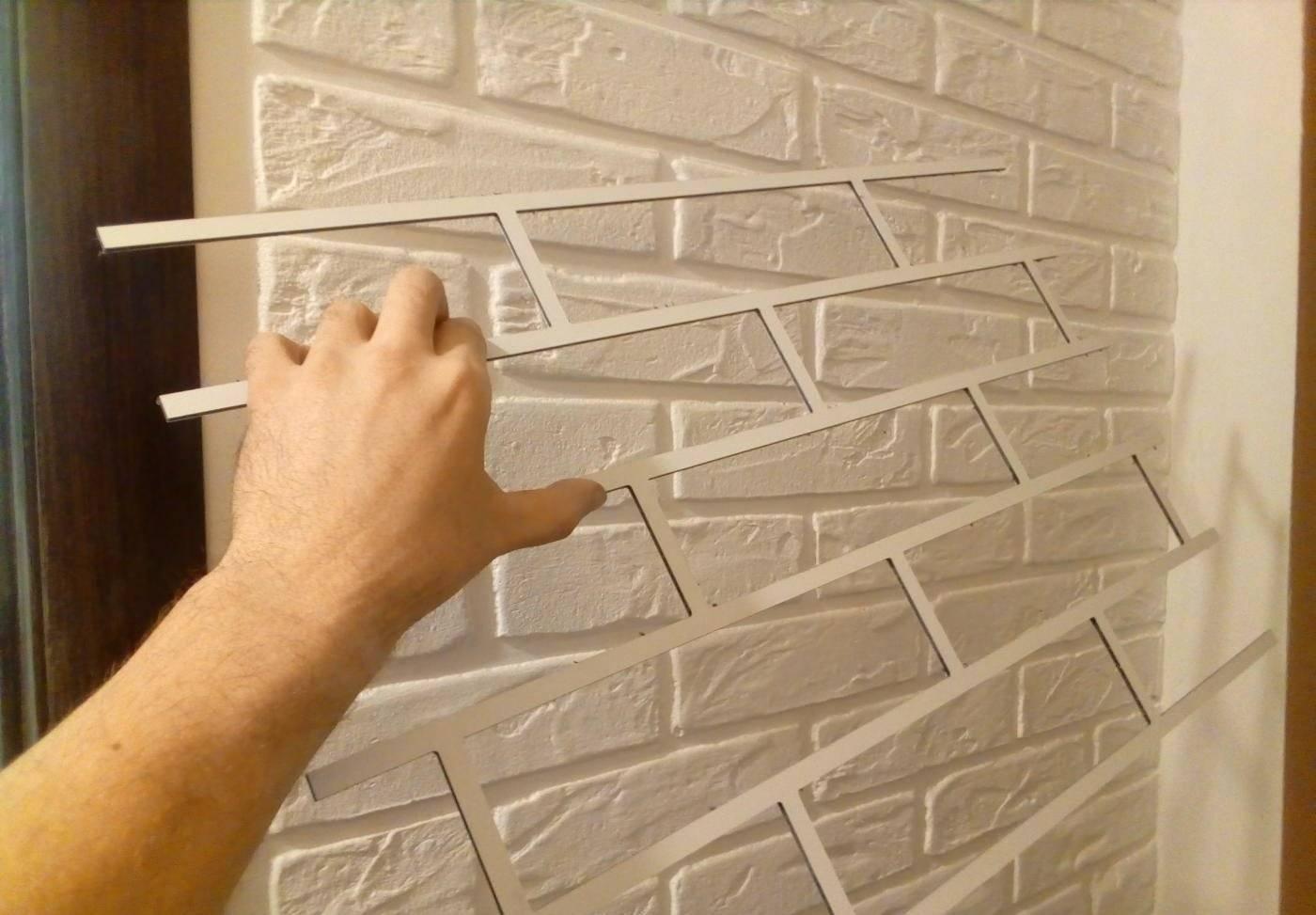 10 способов сделать красивую имитацию кирпичной кладки на стене