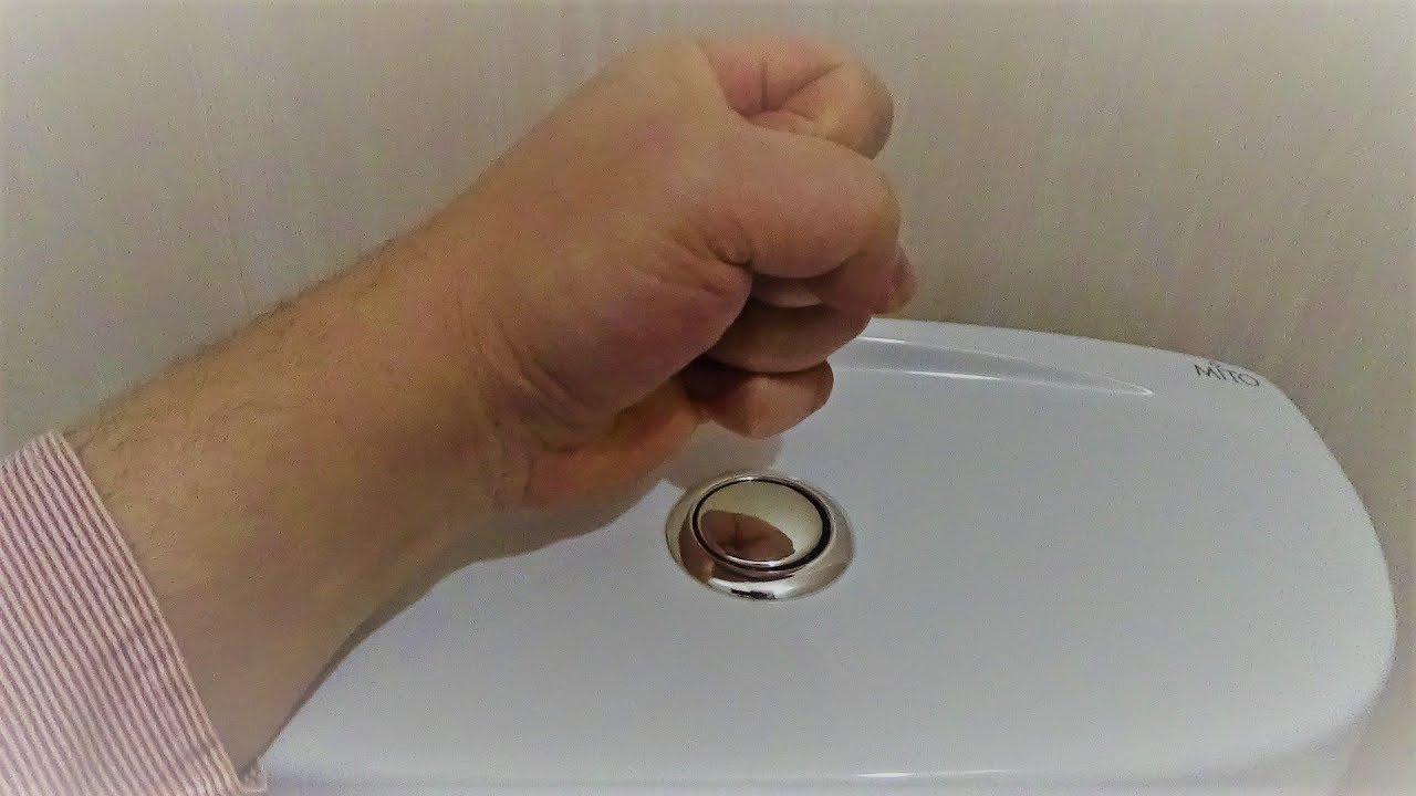 Как починить сливной бачок унитаза с кнопкой?