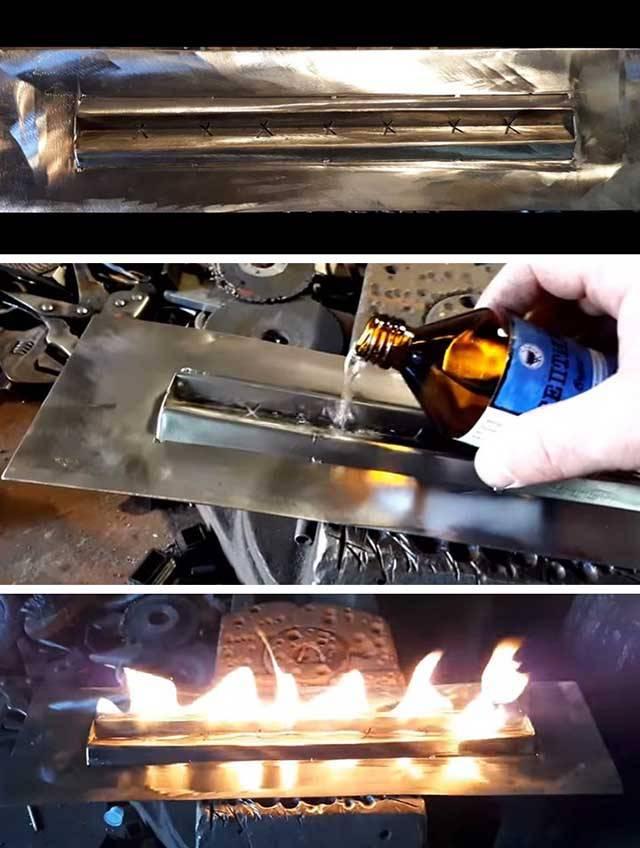 Советы по изготовлению горелки для биокамина своими руками - точка j