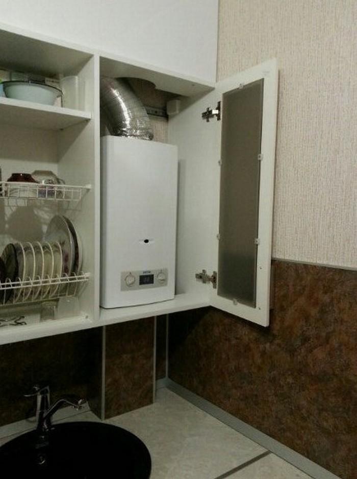 Как перенести газовую трубу на кухне и спрятать газовый счетчик: идеи маскировки