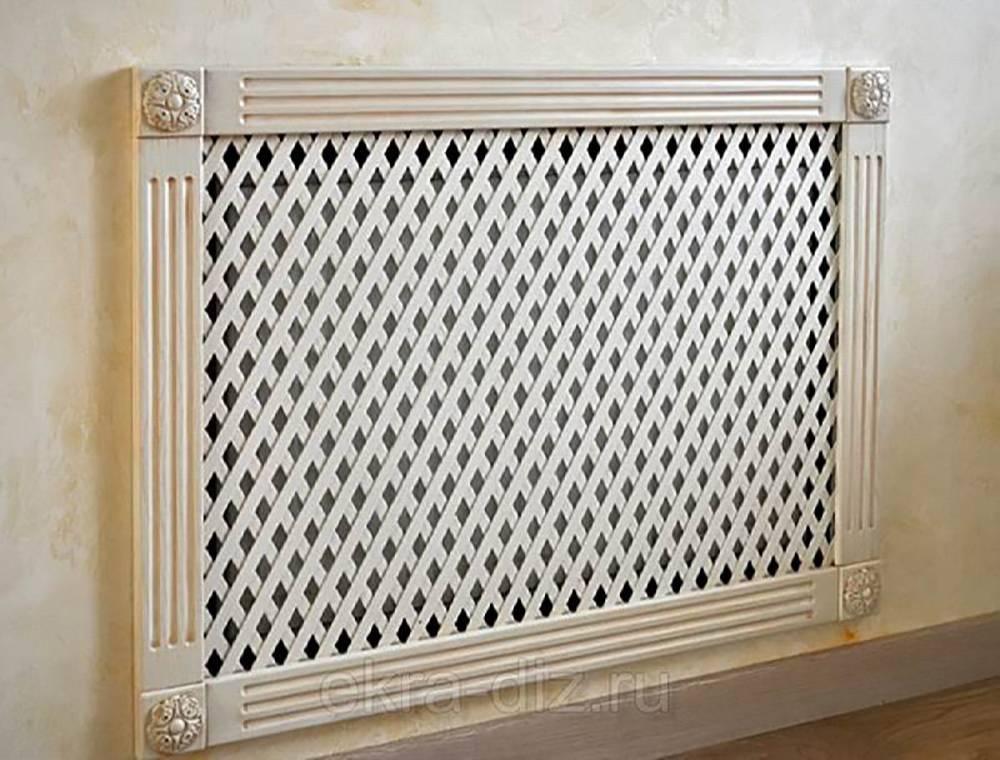 Декоративная решетка на батарею отопления: стандартные размеры + как сделать красивый экран своими руками (фото) » интер-ер.ру
