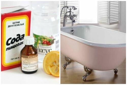 Как отмыть ванну без применения химических средств