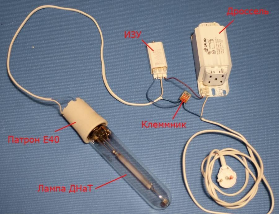 Виды ламп освещения и их характеристики