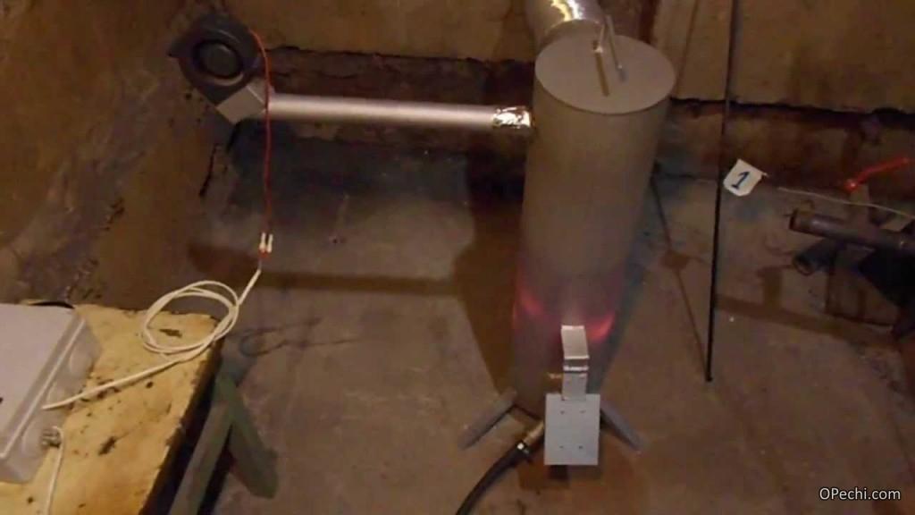 Принцип работы печи на дизельном топливе