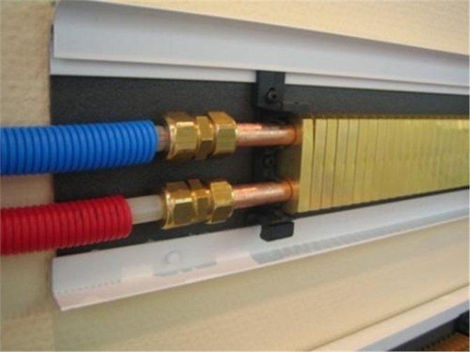 Тёплый плинтус — плинтусные радиаторы в системе отопления