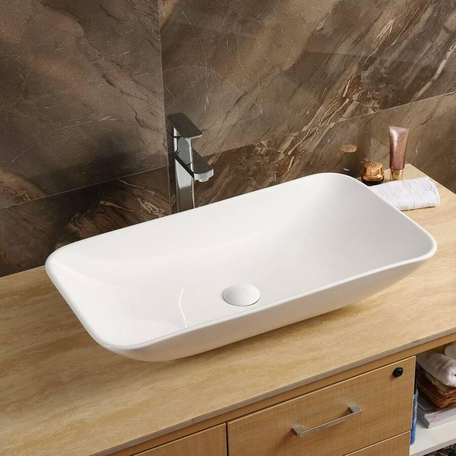 Накладная раковина на столешницу в ванную комнату: монтажные инструкции