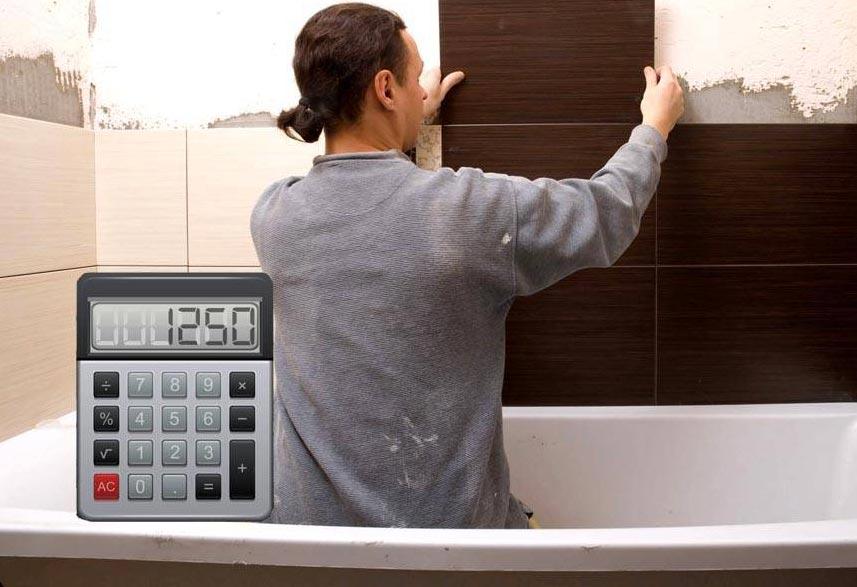 Как рассчитать сколько нужно плитки для ванной комнаты   плиткапол