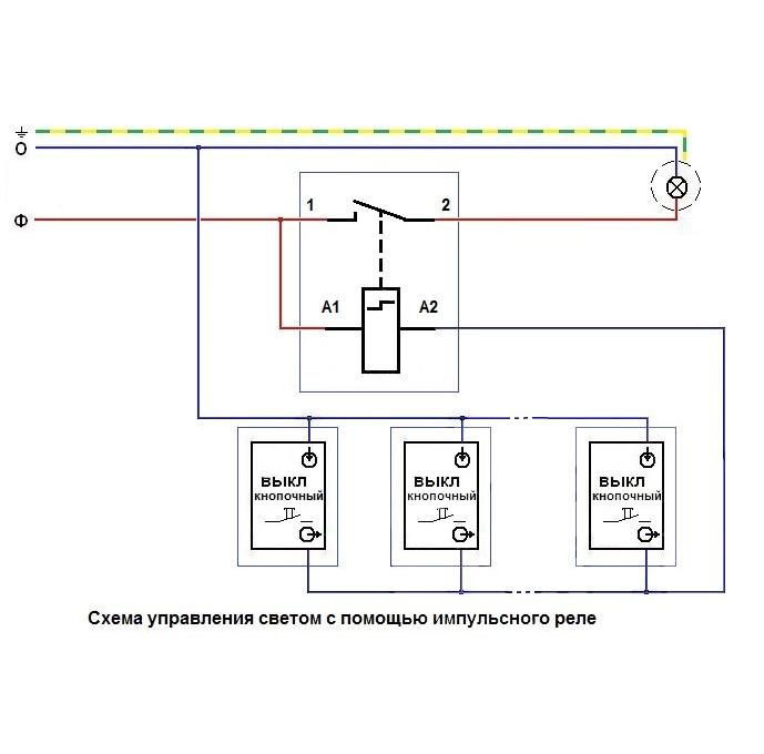 Импульсные реле для управления освещением: описание и принцип работы