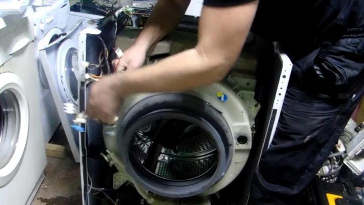 Ремонт стиральных машин samsung: запчасти для модели diamond и других, замена амортизаторов и щеток, ремонт поломок своими руками на дому