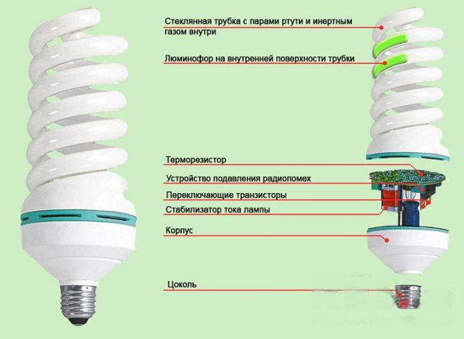 Принцип работы люминесцентной лампы - всё о электрике