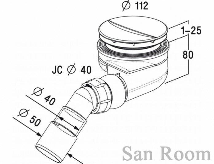 Сифон для низкого поддона душевой кабины: критерии выбора устройства и правила установки